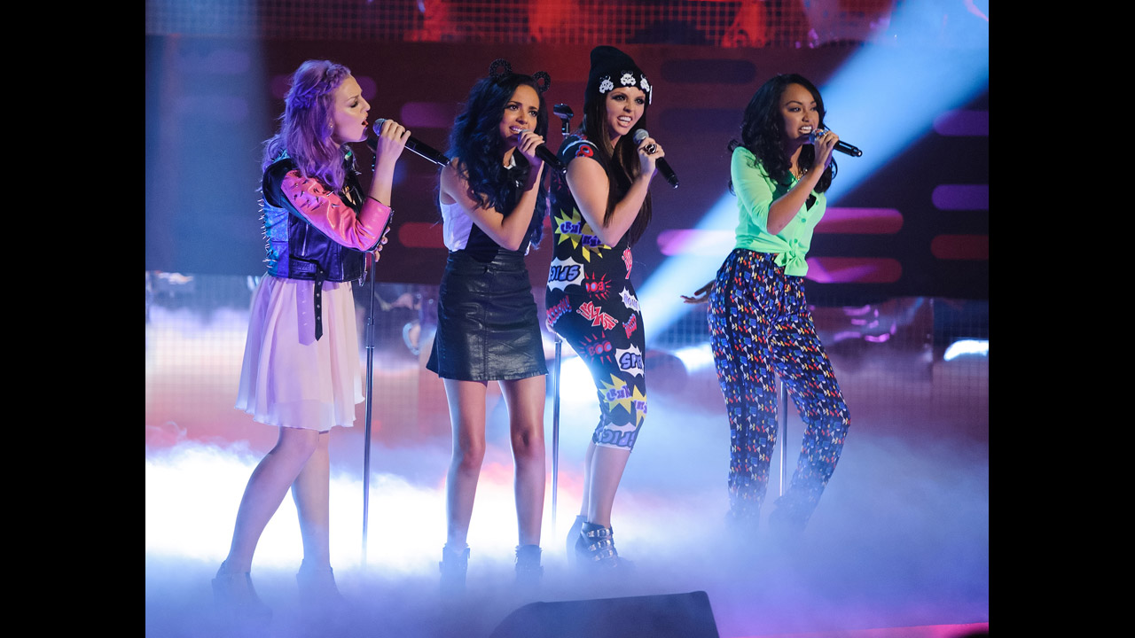 Little Mix performs on stage during 'The Graham Norton Show.'