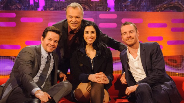 Sarah Silverman, Michael Fassbender, and Mark Wahlberg stop by 'The Graham Norton Show.'