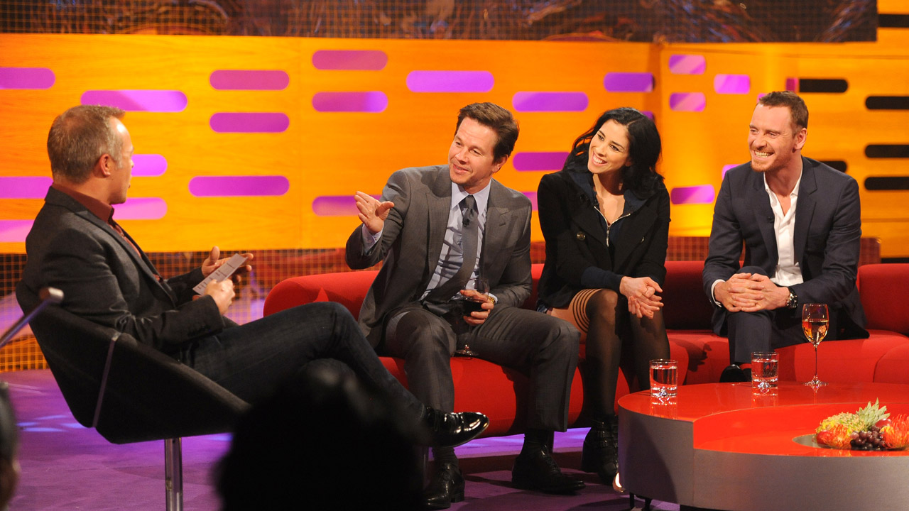 Mark Wahlberg, Sarah Silverman, and Michael Fassbender pack the couches this week.
