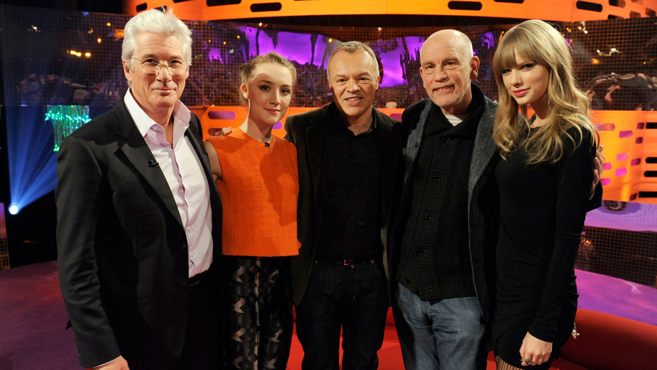 Graham welcomes Richard Gere, John Malkovich, Saoirse Ronan, and Taylor Swift to the show.