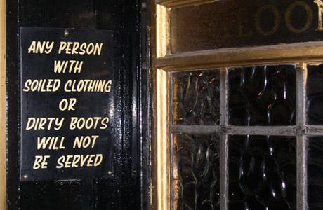 London Pub Warning Sign