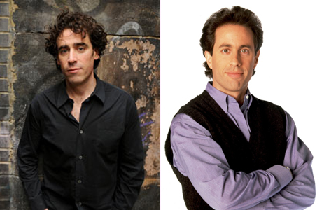 Stephen Mangan and Jerry Seinfeld