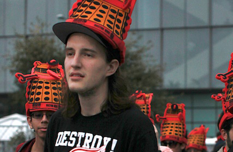 Here's a closer look at the Dalek hat.