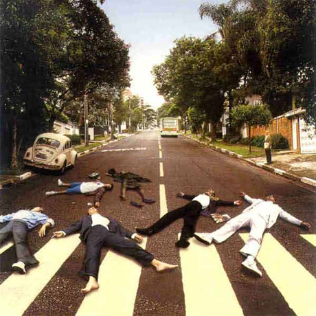 Beatles Parody album covers - Abbey Road