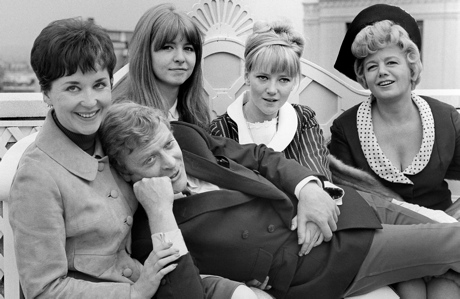 Michael Caine in a 1965 publicity photo with other cast members of the movie 'Alfie' (Press Association/AP Images)