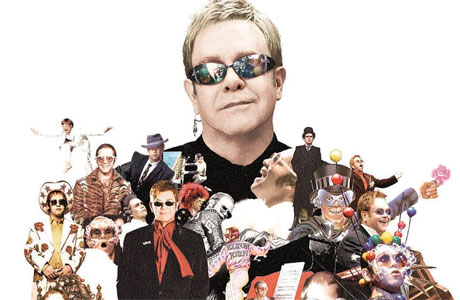 Sir Elton John, and his tiny  Elton minions.