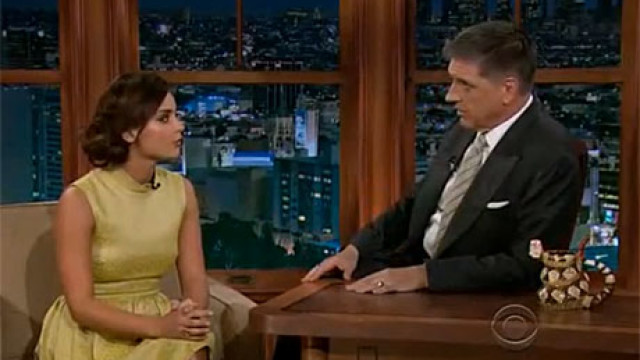 Jenna-Louise Coleman and Craig Ferguson on The Late Late Show