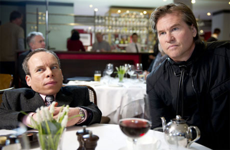 Warwick Davies and Val Kilmer in the Life's Too Short Easter Special