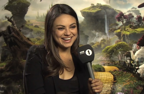 Mila Kunis in interview in 'Scott Mills Show' interview. (BBC Radio 1)