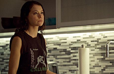 Sarah and her Clash T-shirt (Orphan Black, BBCAMERICA)