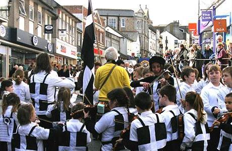 St Piran's Day celebrations in Penzance, Cornwall