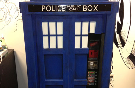 TARDIS vending machine