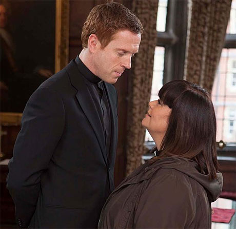 Damien Lewis and Dawn French in 'The Vicar of Dibley'