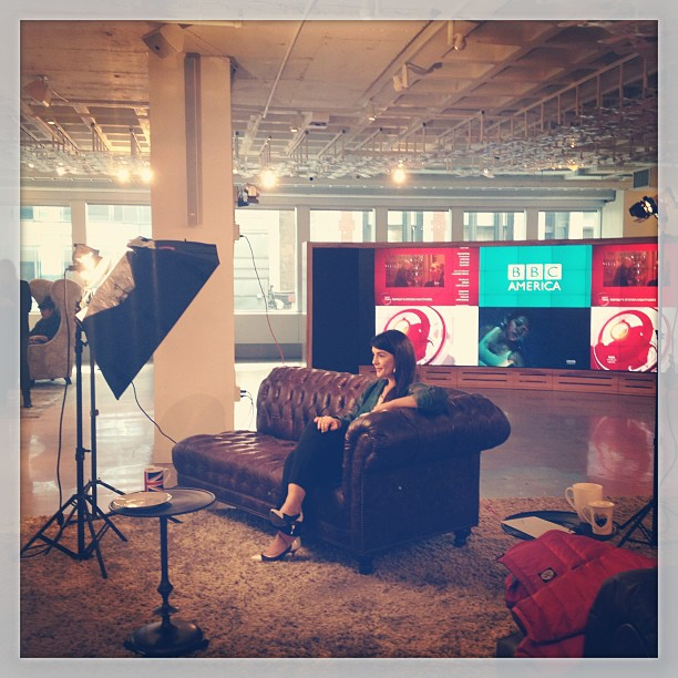 Jessie Ware in BBC AMERICA's New York office. (Photo: Freya Last)