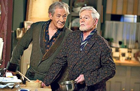Sir Ian McKellen and Sir Derek Jacobi in 'Vicious' (Photo: ITV)
