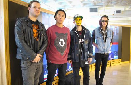 Matt, Nick, Tony, and Josh from Modestep.