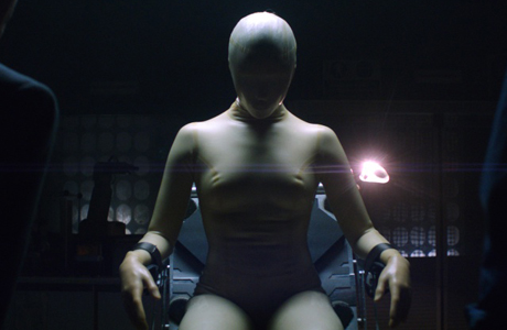 The robotic creation in 'The Machine'