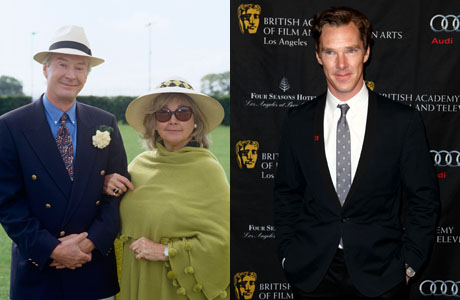 Left to Right: Timothy Carlton and Wanda Ventham (BBC) and their son Benedict Cumberbatch (Matt Sayles/Invision/AP)