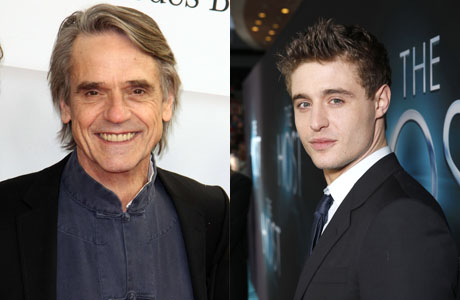 Left to Right: Jeremy Irons (Rex Features via AP Images) and his son Max (Todd Williamson/Invision/AP)