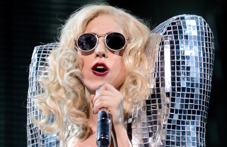 Lady Gaga performing in New York City in January 2010. (Evan Agostini/AP Images)