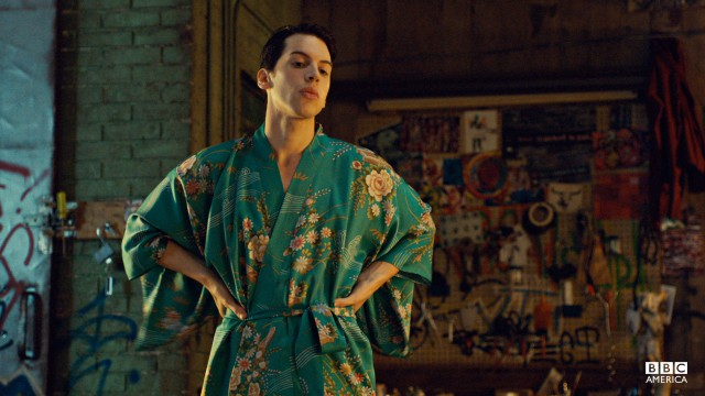 Fee's kimonos complement the decor.