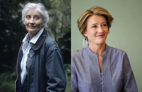 Left to Right: Phyllida Law (BBC) and her daughter Emma Thompson (AP Photo/Matt Rourke)