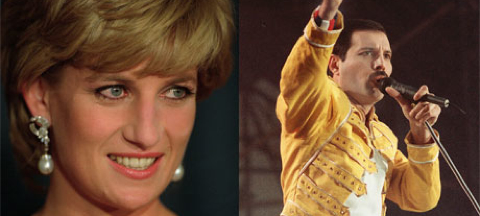 Princess Diana and Freddie Mercury