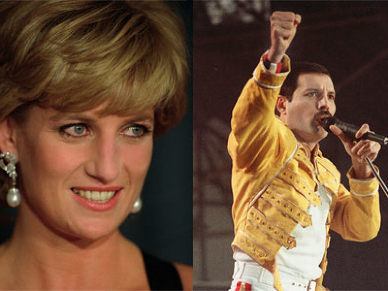 Princess Diana and Freddie Mercury