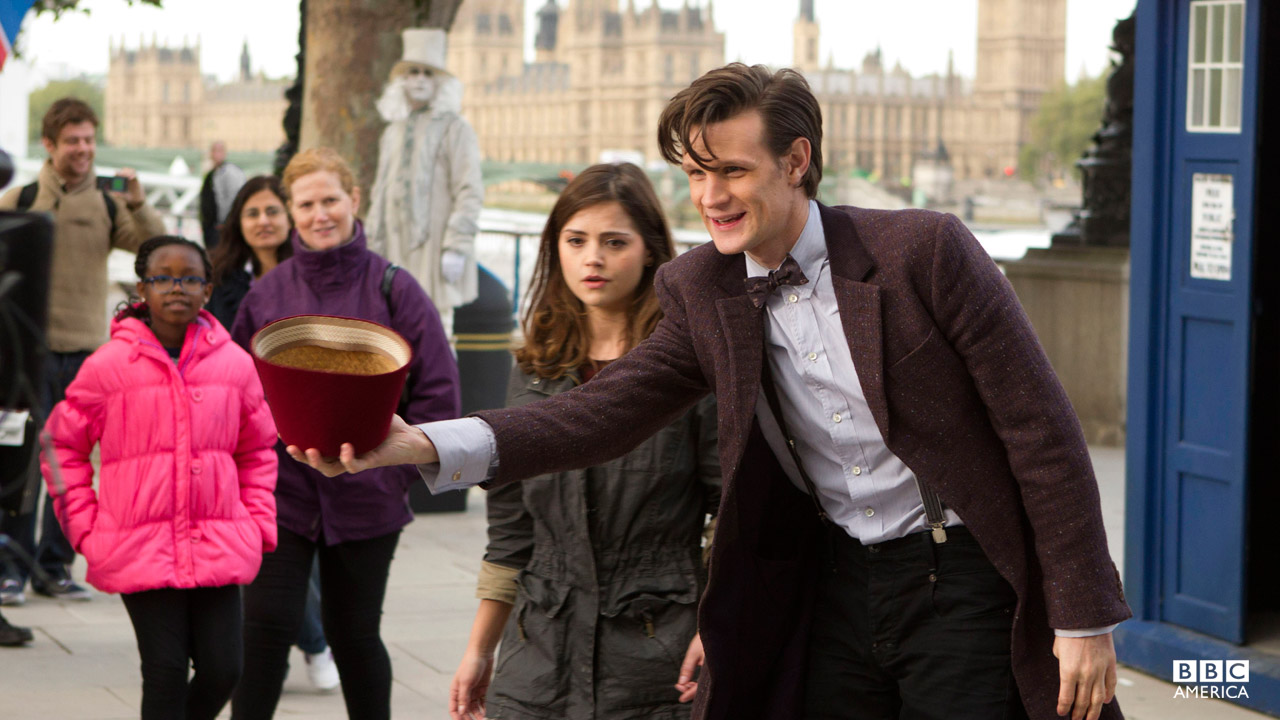 """Clara: """"So this is tomorrow then? Tomorrow's come early?"""" The Doctor: """"No it came at the usual time, we just took a shortcut."""""""
