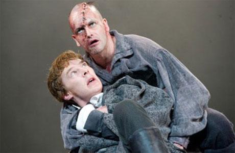 Benedict Cumberbatch and Jonny Lee Miller in 'Frankenstein'