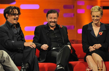 Johnny Depp, Ricky Gervais and Carey Mulligan on 'The Graham Norton Show'