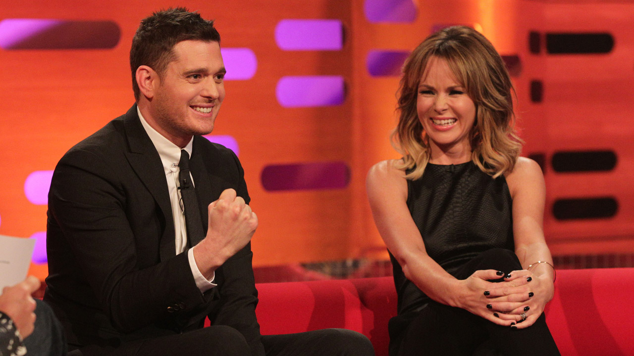 Michael Bublé and Amanda Holden.