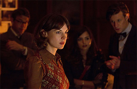 Dougray Scott, Jessica Raine, Jenna-Louise Coleman and Matt Smith in 'Hide'