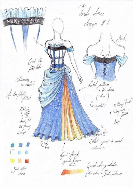 Anne-Louise Richards's TARDIS Dress