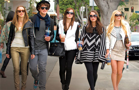 Emma Watson (center) in The Bling Ring