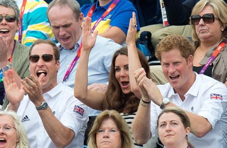 The young Royals cheers on Team GB.