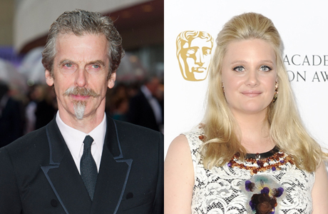 Former 'Hour' co-stars Peter Capaldi, Romola Garai at the BAFTA TV Awards in London, May 12, 2013. (Photos: Rex Features via AP)