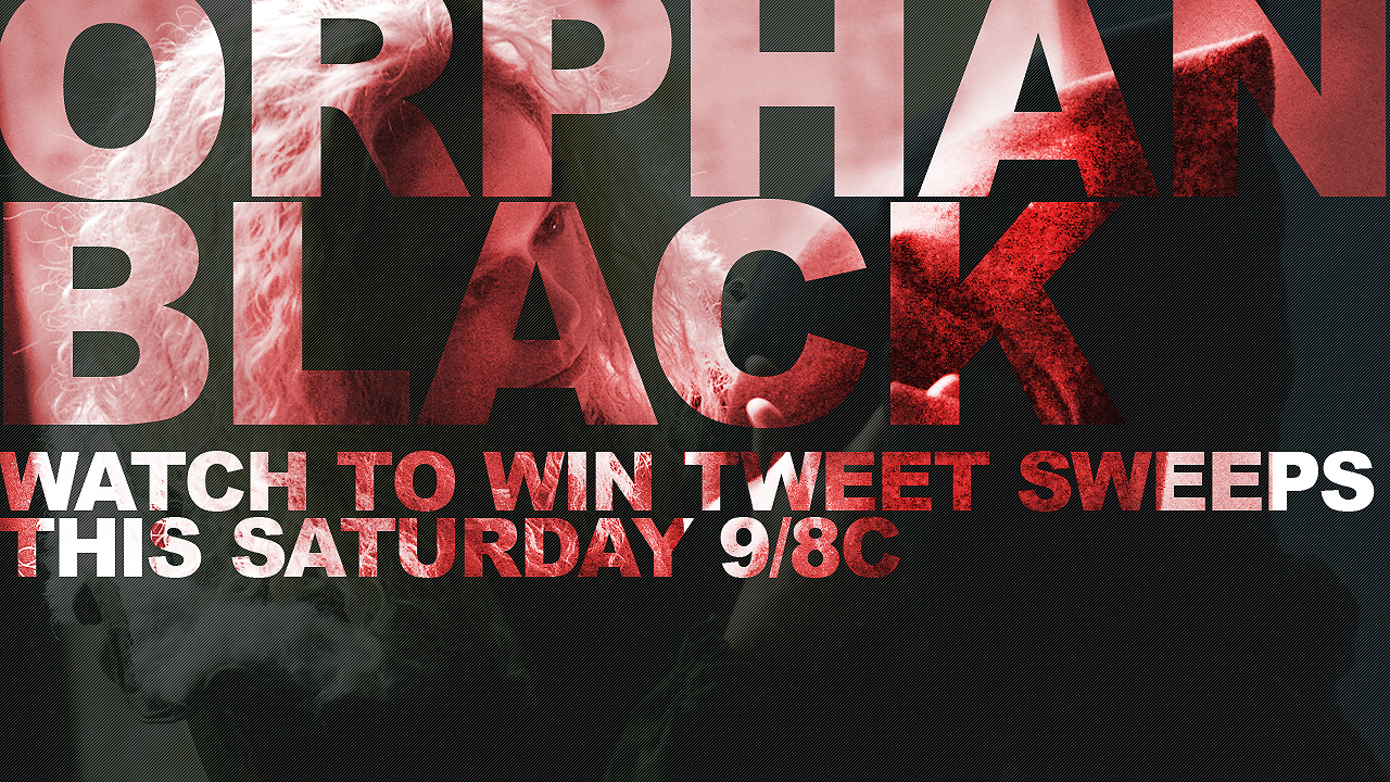 orphan black watch to win tweet sweeps orphan black bbc america. Black Bedroom Furniture Sets. Home Design Ideas
