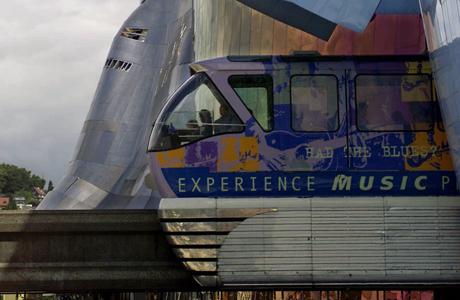 Seattle's EMP Museum. (AP Photo/John Froshauer)