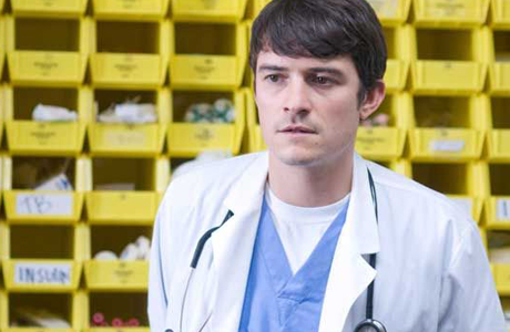 Orlando Bloom needs to work on his bed side manner in The Good Doctor. (Fastnet Films)