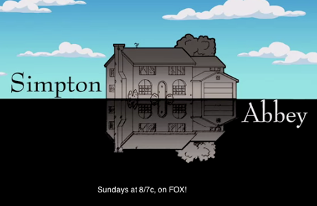 Where do The Simpsons end and Downton Abbey begins? (Screen Shot)