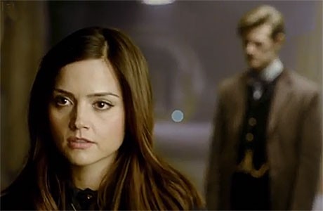 Clara and the Doctor in 'He Said She Said'