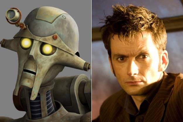 David Tennant won an Emmy this weekend for voicing Huyang the droid in 'Star Wars: The Clone Wars.'