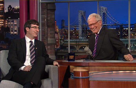 John Oliver on 'The Late Show with David Letterman' (Photo: CBS/YouTube)