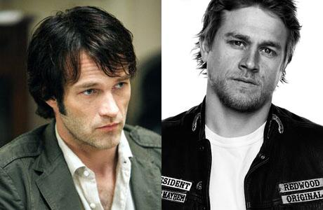 Brits Stephen Moyer and Charlie Hunnam convincingly portray American characters. (HBO/FX)