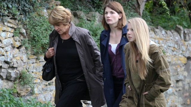 Beth's mom, Liz, and her daughter, Chloe, take a walk.