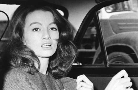 Christine Keeler caught off guard by British paparazzi in 1963. (AP)