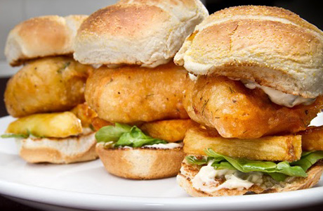 Fish n' chips on a bun, who would've thought! (English's)