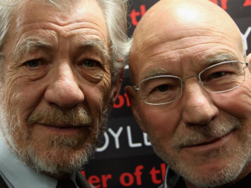 Patrick Stewart and Ian McKellan