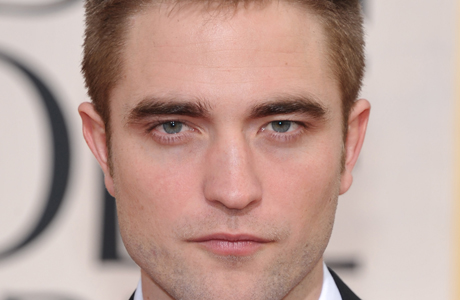 Robert Pattinson giving us the model gaze. (AP)